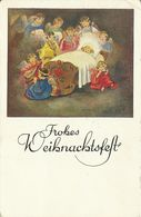 AK Weihnachten / Christmas Kind In Wiegebett - Engel Musizieren Color 1943 #53 - Non Classificati