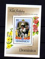 1985   Dominique, 85 Ans De La Reine-mère Queen Mother, BF 99 **, Cote 8 € - Dominique (1978-...)