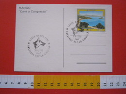 A.02 ITALIA ANNULLO - 1990 MANGO CUNEO RASSEGNA NAZIONALE CANINA CANE DOG PASTORE TEDESCO - Cani