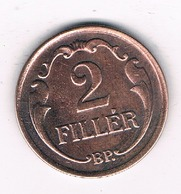 2 FILLER 1927   HONGARIJE /8397/ - Hungary