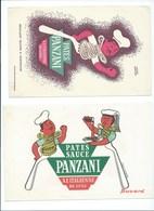 BUVARD X 2  PANZANI Pâtes Et Sauces Bien - Alimentaire
