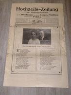 Hochzeits Zeitung Fulda 1920 Vermählung Lisa Kapp August Nüdling - Fashion