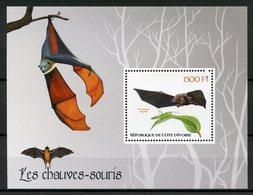 Ivory Coast 2017 MNH Bats Bat 1v S/S Chauves-Souris Flying Mammals Animals Stamps - Bats