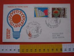 A.02 ITALIA ANNULLO - 1980 ROMA FILATELICO FDC ENERGIE ALTERNATIVE PROBLEMI DEL NOSTRO TEMPO EOLICO VENTO CASA HOUSE - Protection De L'environnement & Climat