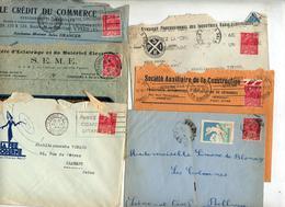 Lot 9 Lettre Cachet Flamme Sur Exposition Coloniale à Voir - Marcophilie (Lettres)
