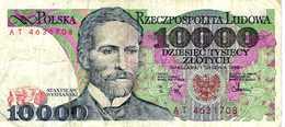 POLOGNE - Narodowy Bank Polski - 10000 Zlotych 1 Grudnia 1988  - Série AT 4631708 - Stanislaw Wyspianski - P.151b - Poland