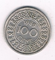 100 CENTS 1989 SURINAME /8405/ - Surinam 1975 - ...
