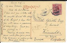 Togo Censored Postcard SG H48, Mi 35 Lome 11.12.16 To Küsnacht CH - Grande-Bretagne (ex-colonies & Protectorats)
