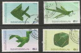 Thailand - 1988 Coconut Leaf Toys Used   Sc 1267-70 - Thailand