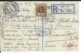 Togo Registered Postcard SG H51, Mi 39 Lome 11.3.18 To Küsnacht CH - Grande-Bretagne (ex-colonies & Protectorats)