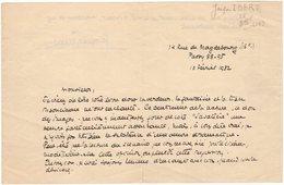 Très Rare Lettre Autographe De 1932, Signée Jacques IBERT, Compositeur Français Directeur De L'académie De France à Rome - Autographs