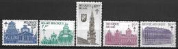 BELGIQUE    -  1965.   Y&T N° 1354 à 1358 *.  Monuments De La Grand' Place De Bruxelles. Série Complète. - Ongebruikt