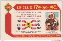 MAGASINE / BUVARD LE CLUB ROUGE ET OR - Buvards, Protège-cahiers Illustrés