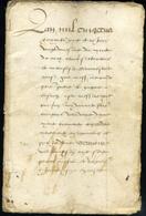 1568, Sous Charles IX,  Manuscrit Ancien De 60 Pages, Rare, Belle Calligraphie, à Déterminer - Manuscrits