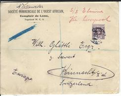 Togo Censored Letter SG H52, Mi 39 Lome 27.2.18 To Küsnacht CH - Grande-Bretagne (ex-colonies & Protectorats)
