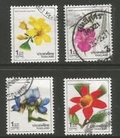 Thailand - 1988 Flowers Used   Sc 1274-7 - Thailand