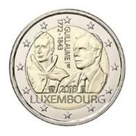 Luxemburg  2018   2 Euro Comm. 175 Verj-anni. Van Het Overlijden Van Grand-Duc Guillaume I UNC Uit De Rol !!!! - Luxemburgo