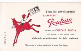 BUVARD , Chocolats POULAIN , TINTIN - Chocolat