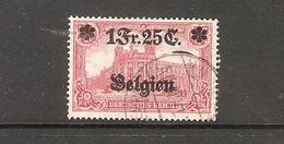 001738 German Occupation Of Belgium 1914 1 F 25c FU - Zone Belge