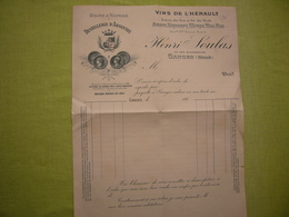 Facture Illustrée Vierge 190? Distillerie D'absinthe Henri Soulas Ganges Hérault - Alimentaire