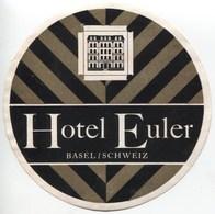 HOTEL EULER BASEL Ca. 1940 Etiquette De Bagages - Hotel-Etikette - Suisse - Schweiz - Etiquettes D'hotels