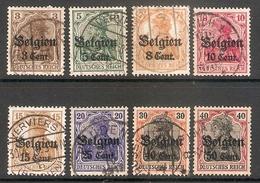 001741 German Occupation Of Belgium 1916 FU Lot - Zona Belga