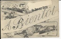 """Carte Postale  : Bar Sur Seine - A Bientôt """" Le Départ - Le Retour """" - Bar-sur-Seine"""
