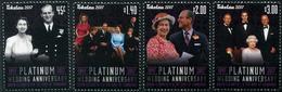 Tokelau - 2017 - Noces De Platine Reine Elizabeth II - 4 Val Neufs // Mnh - Tokelau