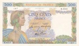 500 Francs  UNC !!! - 1871-1952 Anciens Francs Circulés Au XXème