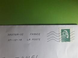 France, Lettre Verte Avec Marianne L' Engagée   De Carnet , Obl 2018 TB - 2018-... Marianne L'Engagée