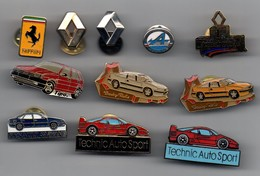 LOT DE 11 PIN'S AUTOMOBILES ET MARQUES - Badges