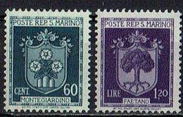 San Marino 1945 // Mi. 321,324 ** (031..775) - San Marino