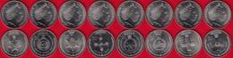 """Australia Set Of 8 Coins: 20 Cents """"Legends - Medals Of Honour"""" 2017 UNC - Autres"""