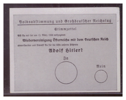 Adolf Hitler (007074) Sammelbilder Austria Tabakwerke, AH Und Sein Weg Zu Großdeutschland Bild 226, Stimmzettel Zur - Zigaretten