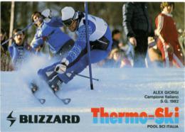ALEX GIORGI  Campione Italiano S.G. 1982 Sci Alpino  Promocard Blizzard  Thermo-Ski - Wintersport