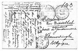 CV Expédiée De Ste Adresse Vers Un Gendarme à VLAMERTINGHE (1916) - WW I
