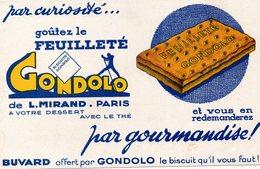 Buvard Feuilleté GONDOLO  Le Biscuit Qu'il Vous Faut De L Mirand Paris - Alimentaire