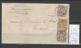 Lettre Type SAGE De Valenciennes Pour Mons En Belgique - YVERT 86  SUR LETTRE - 3 Centimes - TRES RARE - 1876-1898 Sage (Type II)