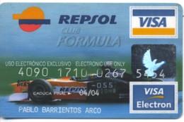 SPAIN ESPANA BBVA / Repsol / Club Formula / Visa + Visa Electron - Geldkarten (Ablauf Min. 10 Jahre)