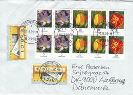 Flowers On Cover. Germany. Sent To Denmark. H-1411 - Plants
