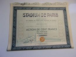 STADIUM DE PARIS (100 Francs) 1934 - Actions & Titres
