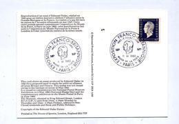 Carte Cachet Paris Exposition Franco Britannique Sur Dulac Vue  Timbre Alliance - Marcophilie (Lettres)