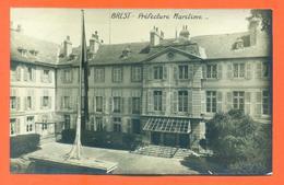 """CPA  CARTE PHOTO Brest """" Préfecture Maritime """" Archives Daniel Delboy - Brest"""