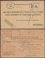 WW1, POW - Kriegsgefangene Sendung - Holzminden 1918 - Geneve (Red Cross)- Brüssel (Bruxelles). - Germania