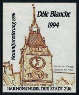 Rare // Etiquette De Vin // Musique //Dôle Blanche, Harmoniemusik Der Stadt Zug - Musique