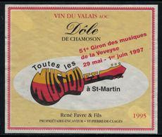 Rare // Etiquette De Vin // Musique // Dôle, Giron Des Musiques De La Veveyse - Musique