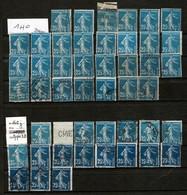 """47 Timbres""""Semeuse Fond Plein Sans Sol 25c Variétés à Trier. Neufs (avec Ou Sans Colle) Et Oblitérés. Bon état - Stamps"""