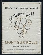 """Rare // Etiquette De Vin // Musique // Mon-sur-Rolle, Groupe Choral """"Grappillon à Rolle - Musique"""