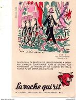 Buvard - La Vache Qui Rit - Série Les Découvertes Buvard N°4 / SAVORGNAN DE BRAZZA - Produits Laitiers