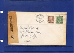 ##(DAN1812)-Postal History-Canada 1941 -  Cover From Saint John - N.B. To U.S.A.-Censored, Examined By Censor Label - 1937-1952 Regno Di George VI
